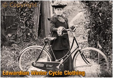 Edwardian Winter Cycle Clothing