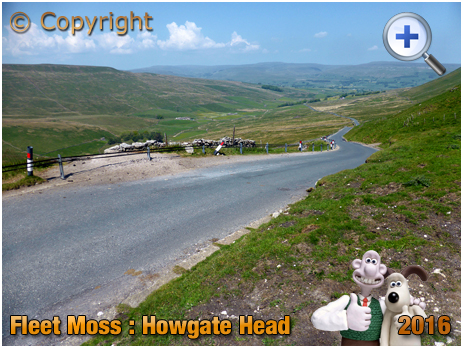 Cycling Group at Howgate Head on Fleet Moss in the Yorkshire Dales [2016]