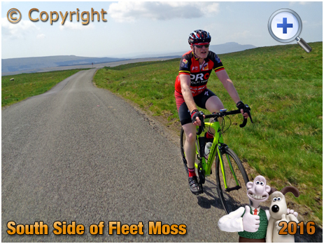 Fleet Moss Cyclist in the Yorkshire Dales [2016]
