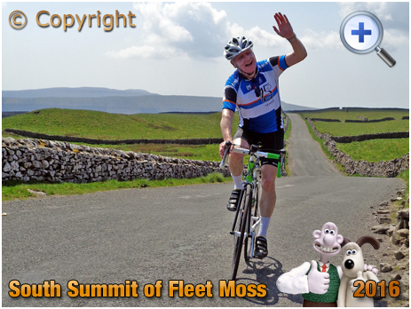 The Sickly Kid salutes the crowd on Fleet Moss in the Yorkshire Dales [2016]