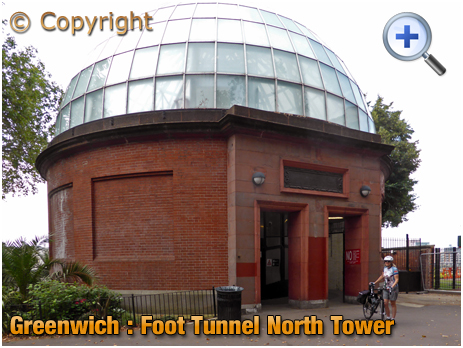 Greenwich Foot Tunnel : North Tower on Isle of Dogs