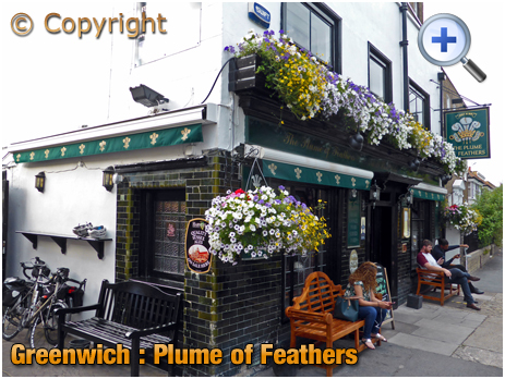 London : Plume of Feathers on Park Vista in Greenwich
