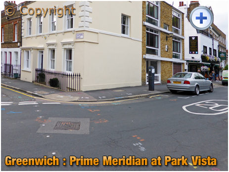 London : Prime Meridian at Park Vista and Feathers Place in Greenwich