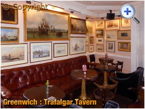 London : Art Gallery inside the Trafalgar Tavern on the Greenwich Peninsula