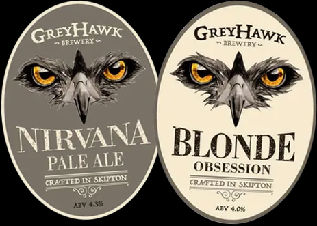 Greyhawk Brewery of Skipton : Nirvana Pale Ale and Blonde Obsession Beers