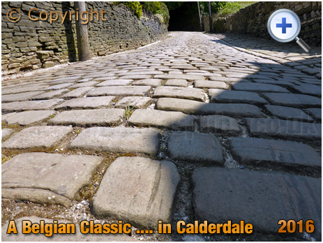 Close-Up of Cobbles on the Trooper Lane Hill Climb in Halifax