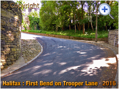 First Bend on the Trooper Lane Hill Climb in Halifax