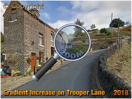 Steep Gradient on the Trooper Lane Hill Climb in Halifax