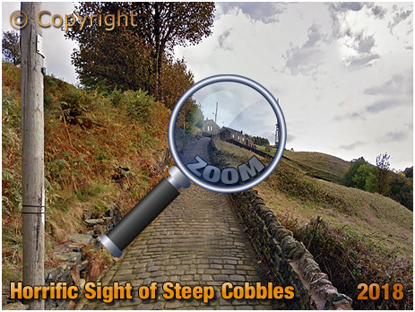 Horrific Steep Cobbles on the Trooper Lane Hill Climb in Halifax