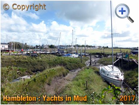 Hambleton : Yachts in mud at Wardley's [2017]