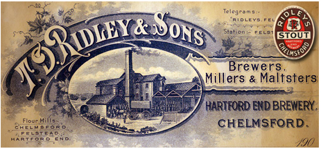 Hartford End : Letterhead of T. D. Ridley & Sons