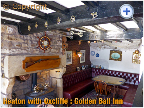 Lancaster : Interior of the Golden Ball Inn at Heaton with Oxcliffe [2015]