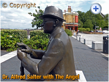 London : Statue of Dr. Alfred Salter at Bermondsey Wall