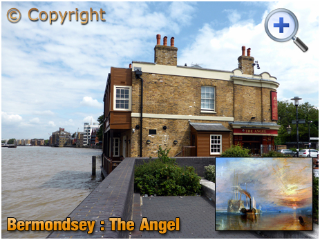 London : The Angel at Bermondsey Wall with River Thames