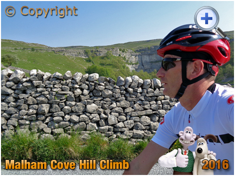 Cyclist on Malham Cove Hill Climb in the Yorkshire Dales [2016]