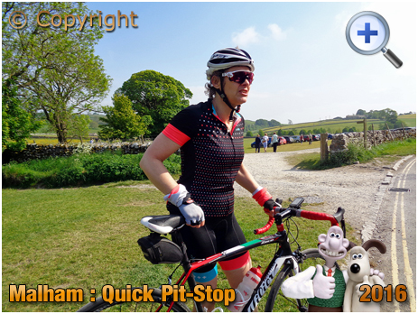 Malham Cyclist in the Yorkshire Dales [2016]