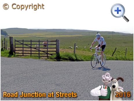 Cyclist at Streets Road Junction near Malham Tarn in the Yorkshire Dales [2016]