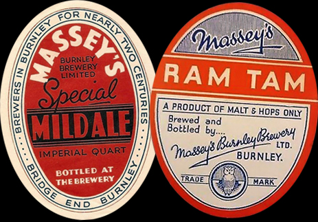 Beer Labels of Massey's Burnley Brewery Limited