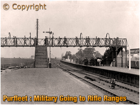 Purfleet : Military Going to the Rifle Ranges from the Railway Station [c.1912]