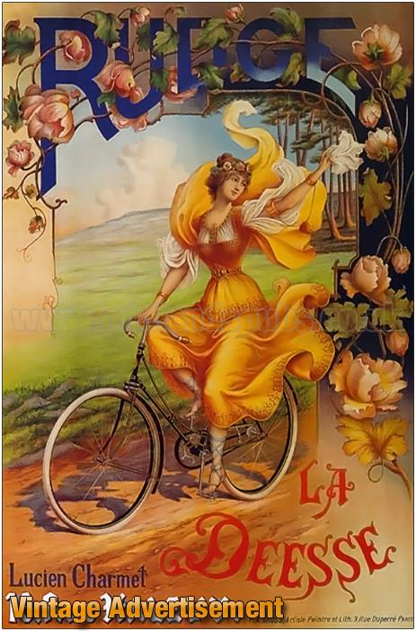 Advertisement for Rudge La Deesse Bicycles