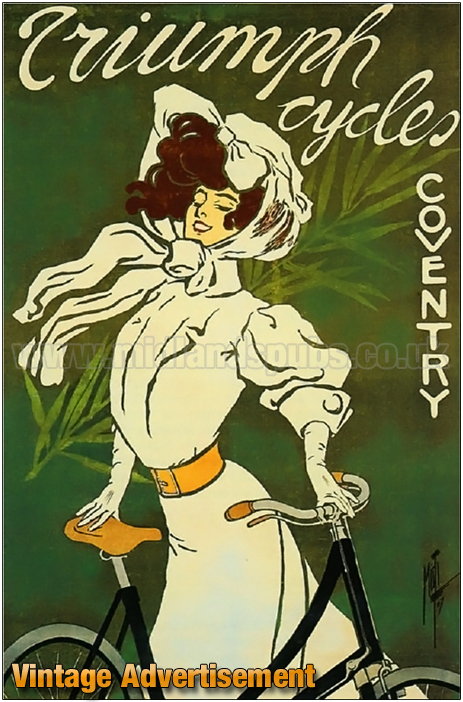 Advertisement for Triumph Cycles of Coventry