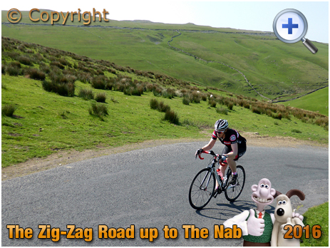 Zig-Zag Road from Darnbrook Beck to The Nab in the Yorkshire Dales [2016]