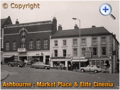 Ashbourne : Market Place and Elite Cinema [1967]