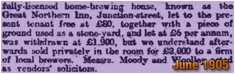 Derby : Sale of the Great Northern Inn [1905]
