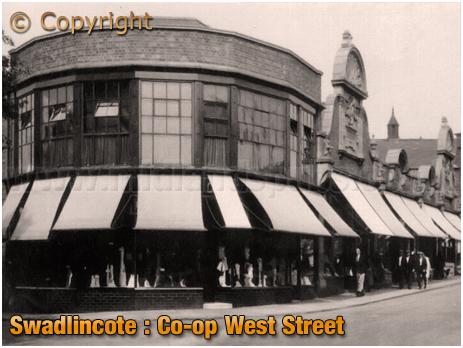 Swadlincote : Co-op in West Street [c.1920]