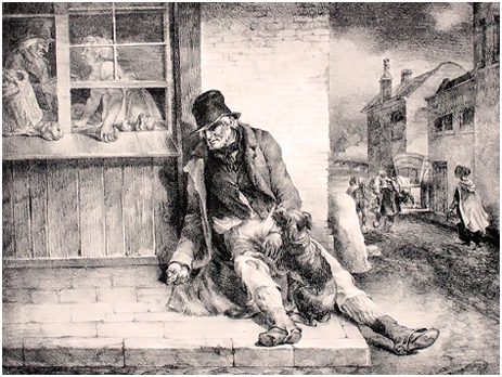 Drunk Man in Street
