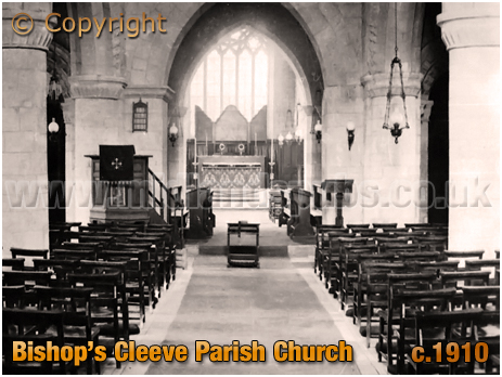 Bishop's Cleeve : Interior of the Parish Church of Saint Michael and All Angels [c.1910]