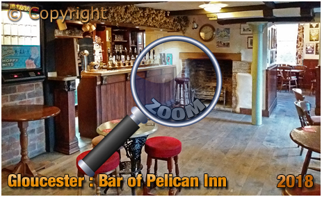 Gloucester : Bar of the Pelican Inn [2018]