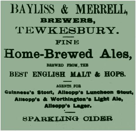 Tewkesbury : Advertisement for Bayliss & Merrell [1918]