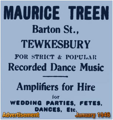 Tewkesbury : Advertisement for Maurice Treen of Barton Street [1946]