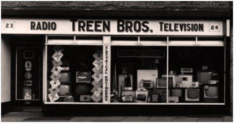 Tewkesbury : Radio and Television Shop of Treen Bros. [c.1960]