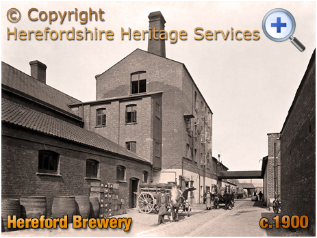 Hereford Brewery [c.1900 © Herefordshire Heritage Services]