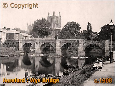 Hereford : Wye Bridge [c.1908]