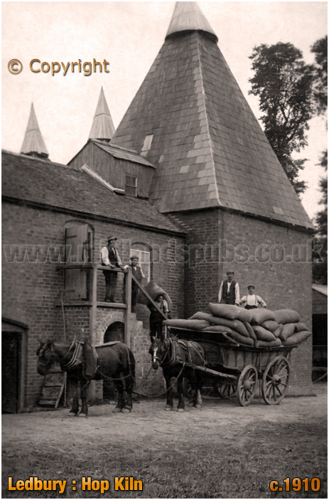 Ledbury : Bring hops to the kiln for drying [c.1910]