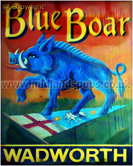 Inn Sign of the Blue Boar at Aldbourne [2012]