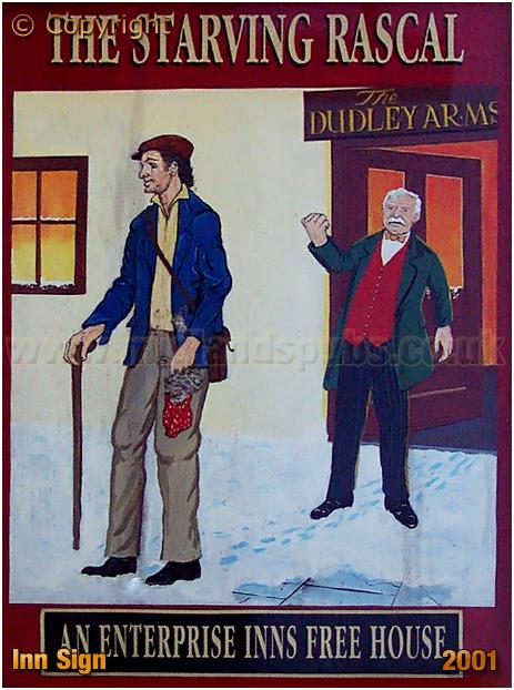 Amblecote : Inn Sign of The Starving Rascal on Brettell Lane [2001]