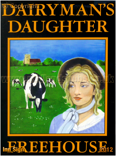 Arreton : Inn Sign of the Dairyman's Daughter [2012]