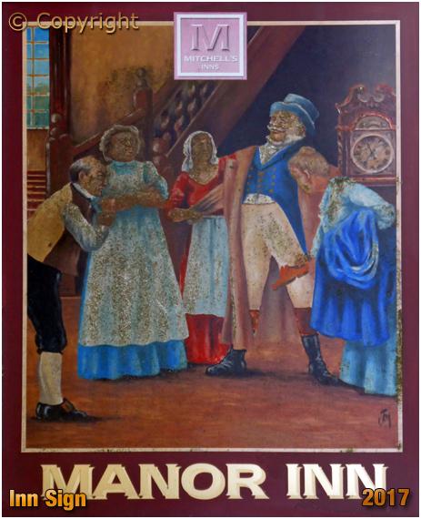 Cockerham : Inn Sign of the Manor Inn [2017]