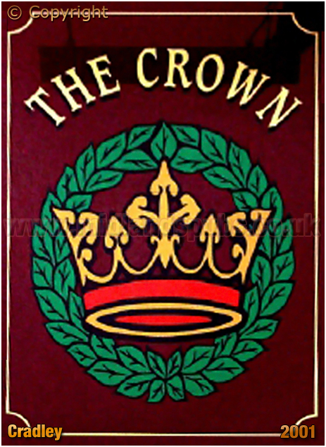 Inn Sign of The Crown at Cradley [2001]