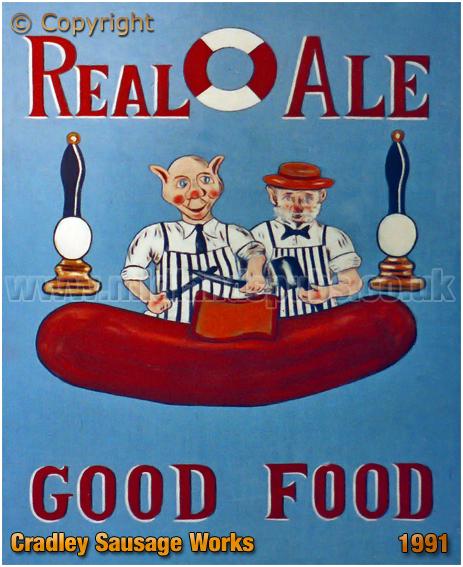 Cradley Heath : Inn Sign of the Cradley Sausage Works [1991]