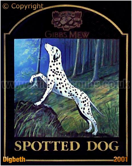 Birmingham : Inn Sign of the Spotted Dog on Bordesley Street [2001]