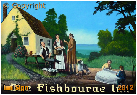 Isle of Wight : Inn Sign of the Fishbourne Inn [2012]