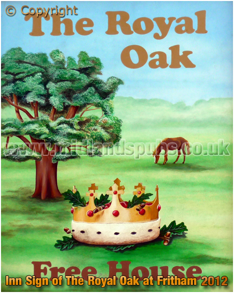 Fritham : Inn Sign of The Royal Oak [2012]