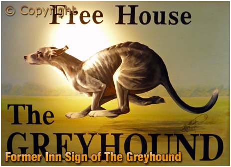 Hawkesbury Stop : Former Inn Sign of The Greyhound