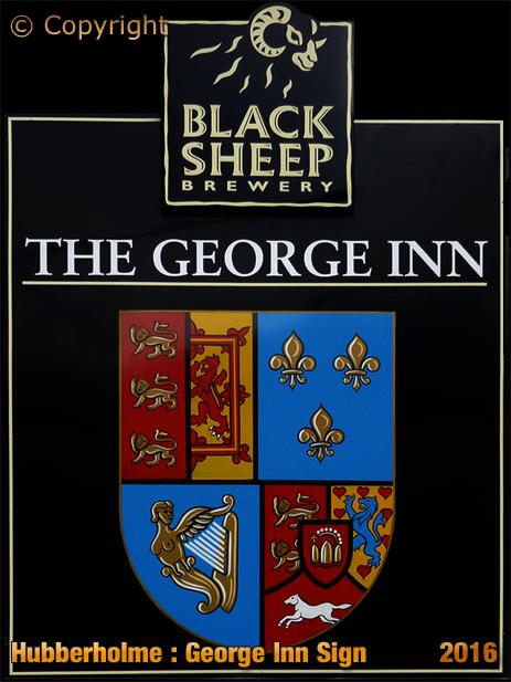 Hubberholme : Inn Sign of the George Inn [2016]