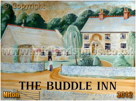 Niton Undercliff : Inn Sign of the Buddle Inn [2012]
